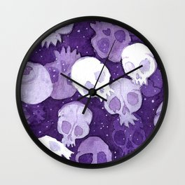 lilac pattern Wall Clock