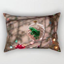 Glass Frog Ornament Photography Print Rectangular Pillow