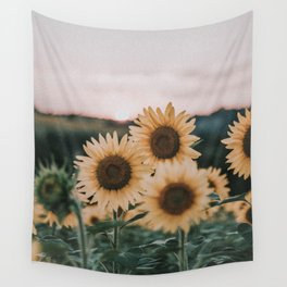 sunflowers / sunset Wall Tapestry