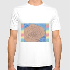 Beyond Color #2 - Sweet Beauty MEDIUM White Mens Fitted Tee