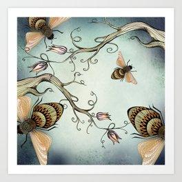 all the buzz Art Print