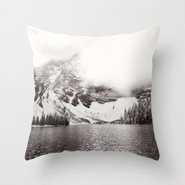 Wild Winter (B&W) Throw Pillow