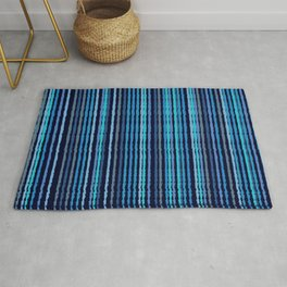 Painted Blue Lines Rug