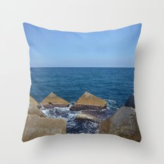 Barcelona - Espigo de la Mar Bella Throw Pillow