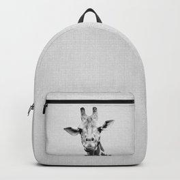 Giraffe 2 - Black & White Backpack
