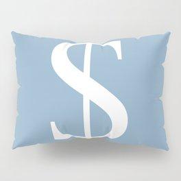dollar sign on placid blue color background Pillow Sham