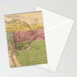Map of Wilmington 1868 Stationery Cards