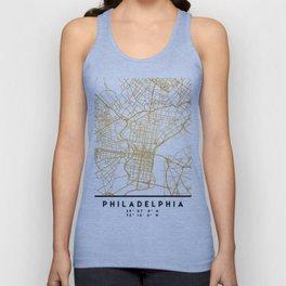 PHILADELPHIA PENNSYLVANIA CITY STREET MAP ART Unisex Tank Top