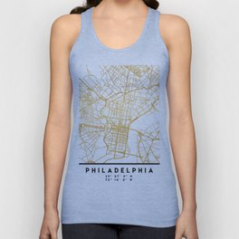 PHILADELPHIA PENNSYLVANIA CITY STREET MAP ART Unisex Tanktop