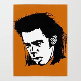 Sad Nick Cave Poster