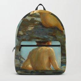 The Bather, 1924 by Henry Scott Tuke Backpack