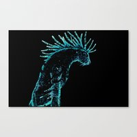 laputa Canvas Prints featuring Deer god by Ednathum