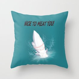 Bloody nice to meat you! (table manners 101) Throw Pillow