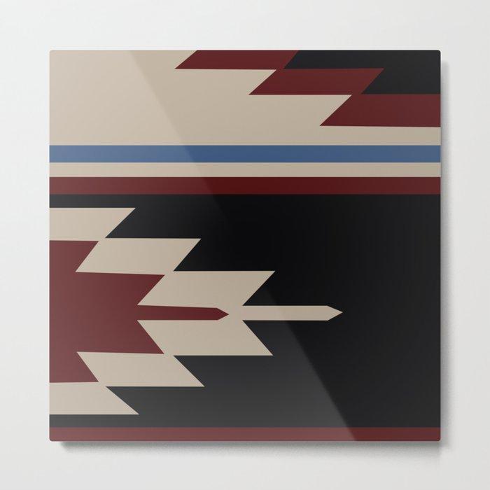 American Native Pattern No. 47 Metal Print