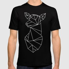Geometric Doe (White on Slate) T-shirt