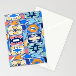 Colorful Ndebele Pattern Stationery Cards