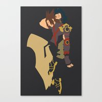 kingdom hearts Canvas Prints featuring Kingdom Hearts - Terra by TracingHorses