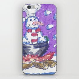 Christmas #4 Snow Cannibalism iPhone Skin