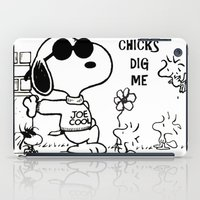 """snoopy iPad Cases featuring Snoopy """"Chicks Dig Me"""" by Blue Orchid Photography"""