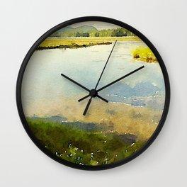 Salt Grass Marsh Wall Clock