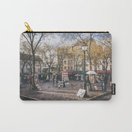 Artists Square in Montmartre, Paris Carry-All Pouch