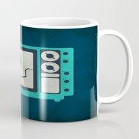 tv Mugs featuring Tv by Annretro