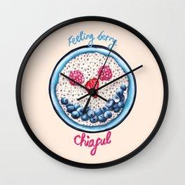 Food Pun - Feeling Berry Chiaful Wall Clock