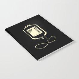 Coffee Transfusion - Black Notebook