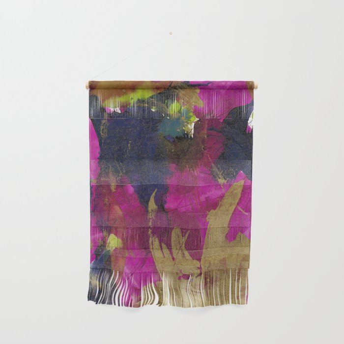 Blue, Purple and Gold Wall Hanging