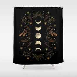 Moonlight Garden - Winter Brown Shower Curtain