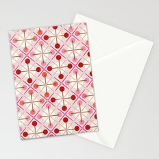 Crosses & Dots (red + pink) Stationery Cards