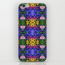 Floral Spectacular: Blue, Plum, Gold - square repeating pattern, Olbrich Botanical Gardens, Madison iPhone Skin