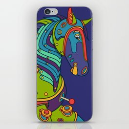 Horse, cool wall art for kids and adults alike iPhone Skin