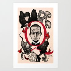GOD SAVE ALEXANDER MCQUEEN Art Print