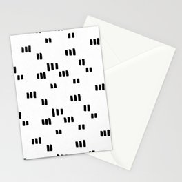 Line Dot Black Paint on Paper Stationery Cards