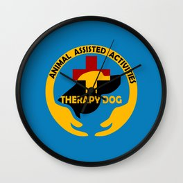 Animal Assisted Activities  - THERAPY DOG logo Wall Clock