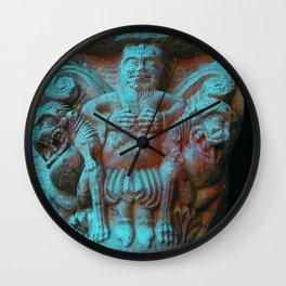 Romanesque lovers V Wall Clock