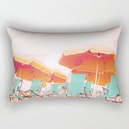 Beach Parasols Rectangular Pillow