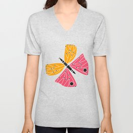 Butterfly with dots Unisex V-Neck