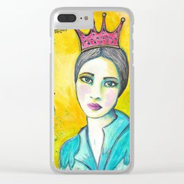 Queen Birdie Clear iPhone Case