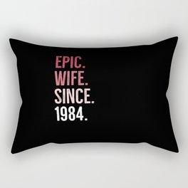 Epic Wife Since 1984 Rectangular Pillow