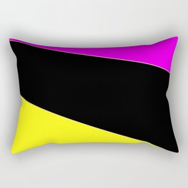 Angelica . Lemon , raspberry , black Rectangular Pillow