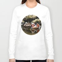 duck Long Sleeve T-shirts featuring Duck by Anand Brai