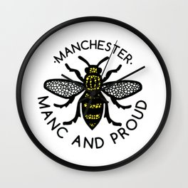 Manchester Bee And Proud Wall Clock