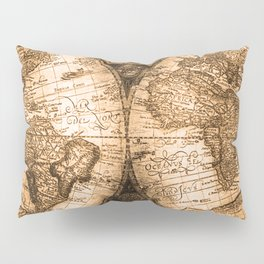 World Map Antique Vintage Maps Pillow Sham