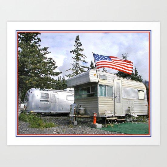 Camper and trailer, Denali Alaska! Art Print