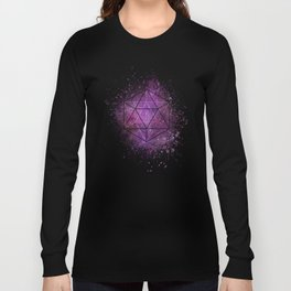 d20 Icosahedron Crystal Wind Long Sleeve T-shirt