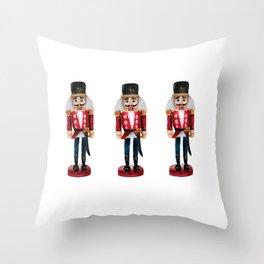 Watercolor Nutcracker trio Throw Pillow