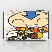 powerpuff girls iPad Cases featuring PowerPuff Aang by auroranq
