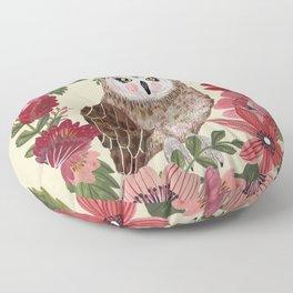 Floral Owl Floor Pillow